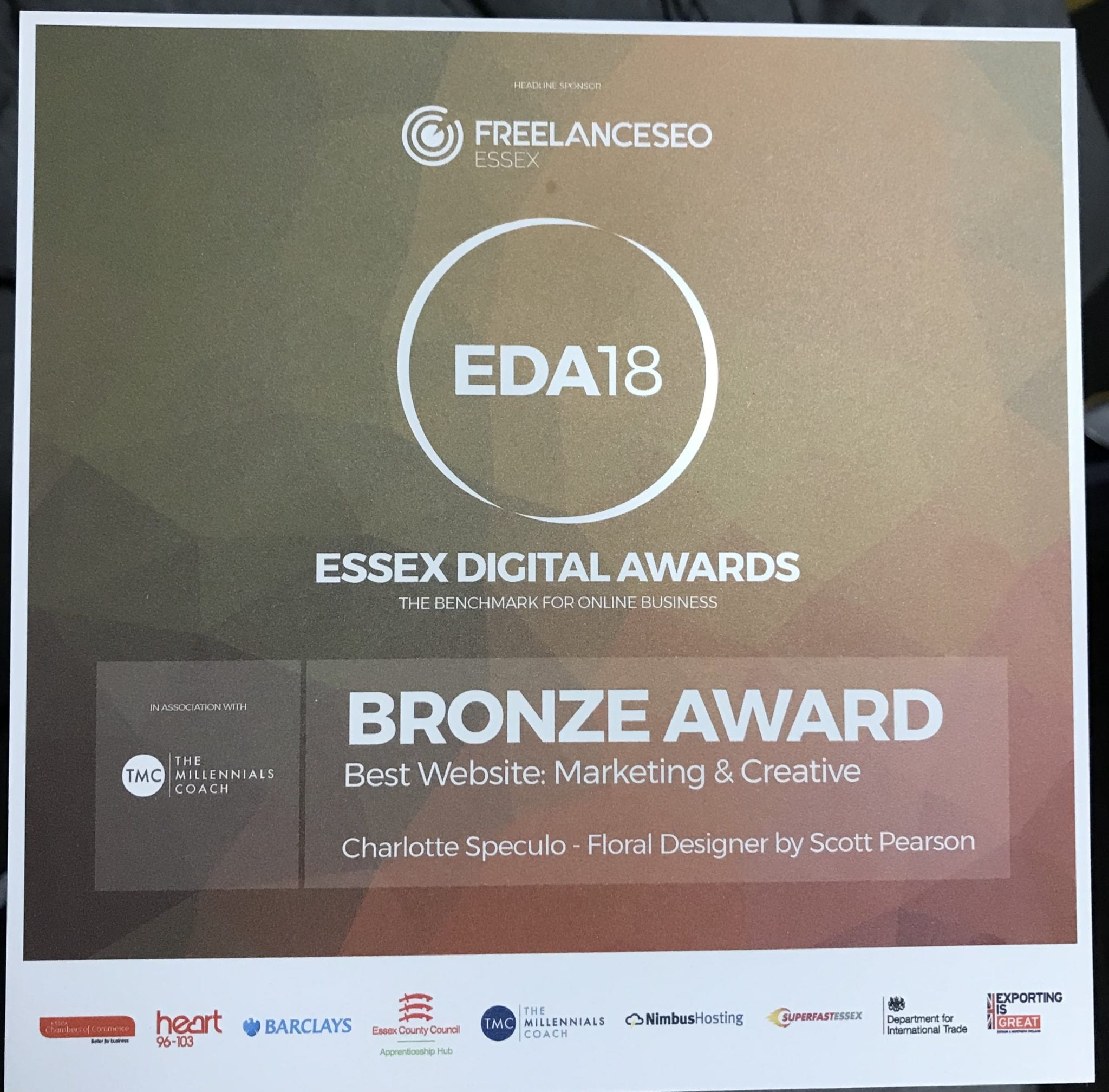 Essex Digital Awards Plaque