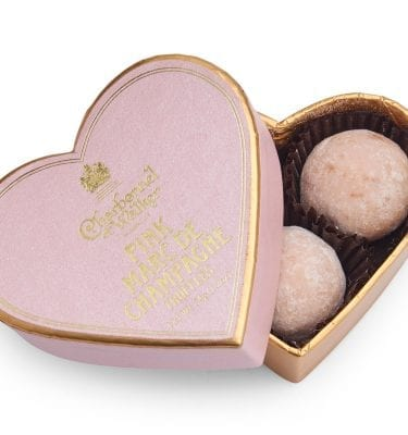 Pink Marc de Champagne Chocolate Truffles – Pink Mini Heart
