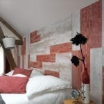 Cabane Range - Antique White & Red