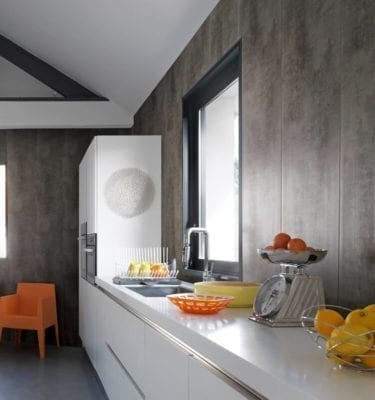 Dark Concrete Effect Wall Cladding
