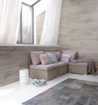 Datcha Grey Wood Effect PVC Wall Cladding