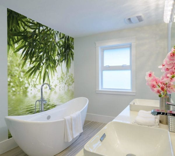 Bamboo And Water Jungle - Featured PVC Wall Panel