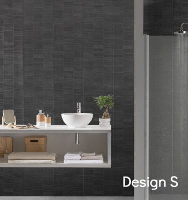 Anthracite Tile Effect PVC Wall Panels 74686C11