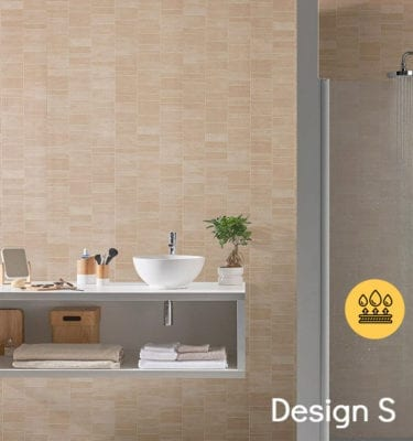 BEIGE TILE EFFECT PVC WALL PANELS