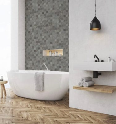 Grey Mosaic - Tile Effect Wall Panels