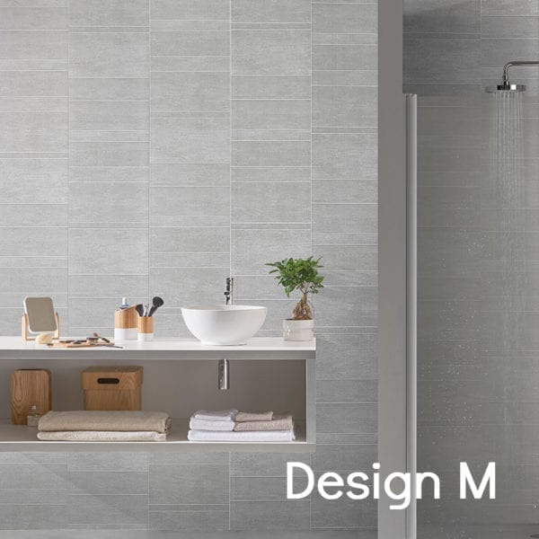 Grey Tile Effect PVC Wall Panels 74688C12 Design M