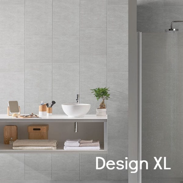 Grey Tile Effect PVC Wall Panels 74688C12 Design XL