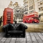 London Bus & Phone Booth Featured Wall