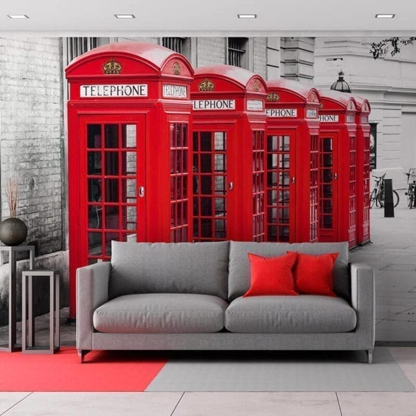 London Phone Box - Featured Wall Panels