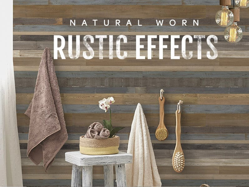 Rustic Effect Wood Wall Panels