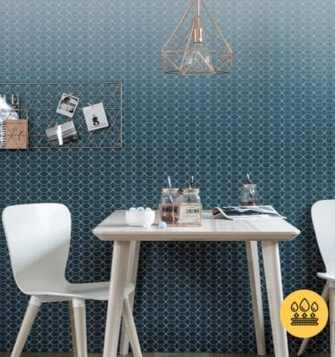 SCANDINAVIAN DARK BLUE WALL GRAPHIC