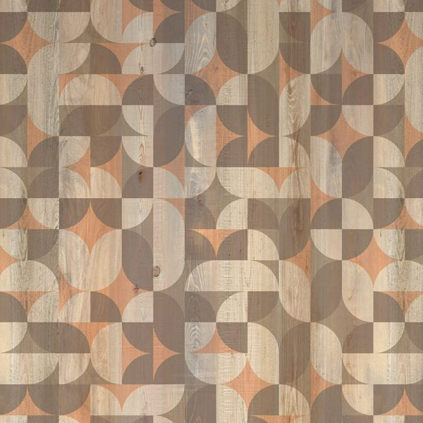 Solstice Wood Effect Patterned PVC Wall Tile