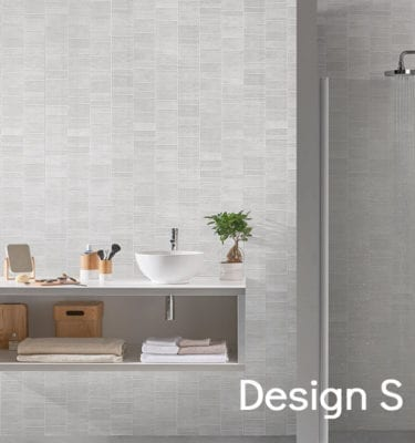 White Tile Effect PVC Wall Panels 74688C15 S