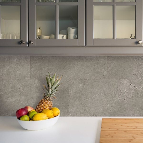 Grey Slate Kitchen Tile Effect Wall Panel
