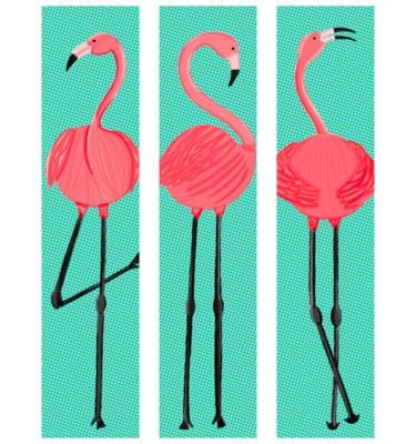 Flamingo Featured Wall Close Up
