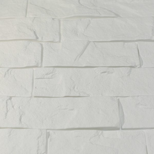 Ledge Stone Interlocking White Close Up