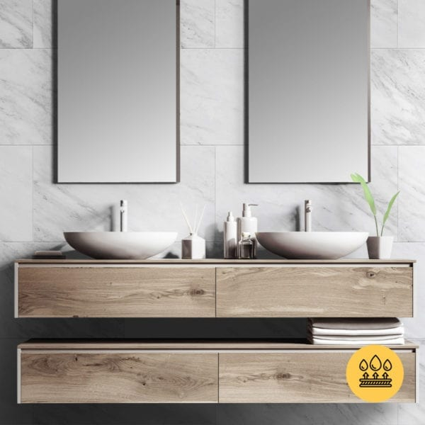 white marble effect wall panel