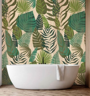 Jungle Leaf Wood Wall Panel