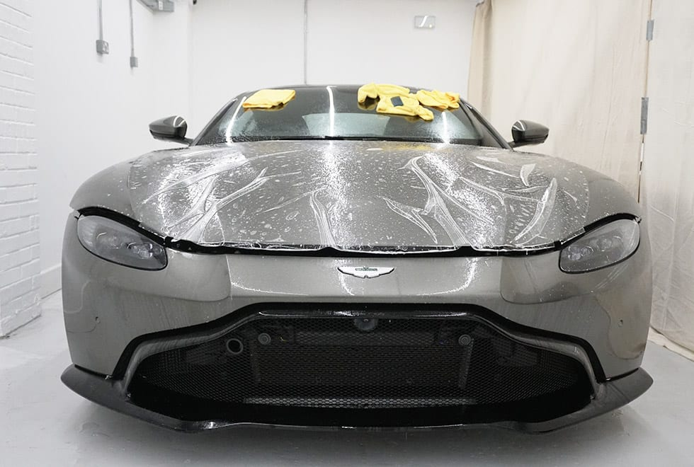 Applying Paint Protection Film PPF