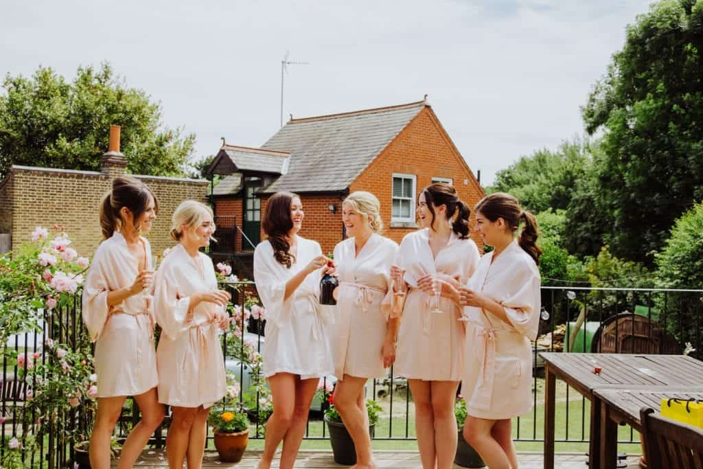 gaynes park bride and bridesmaids