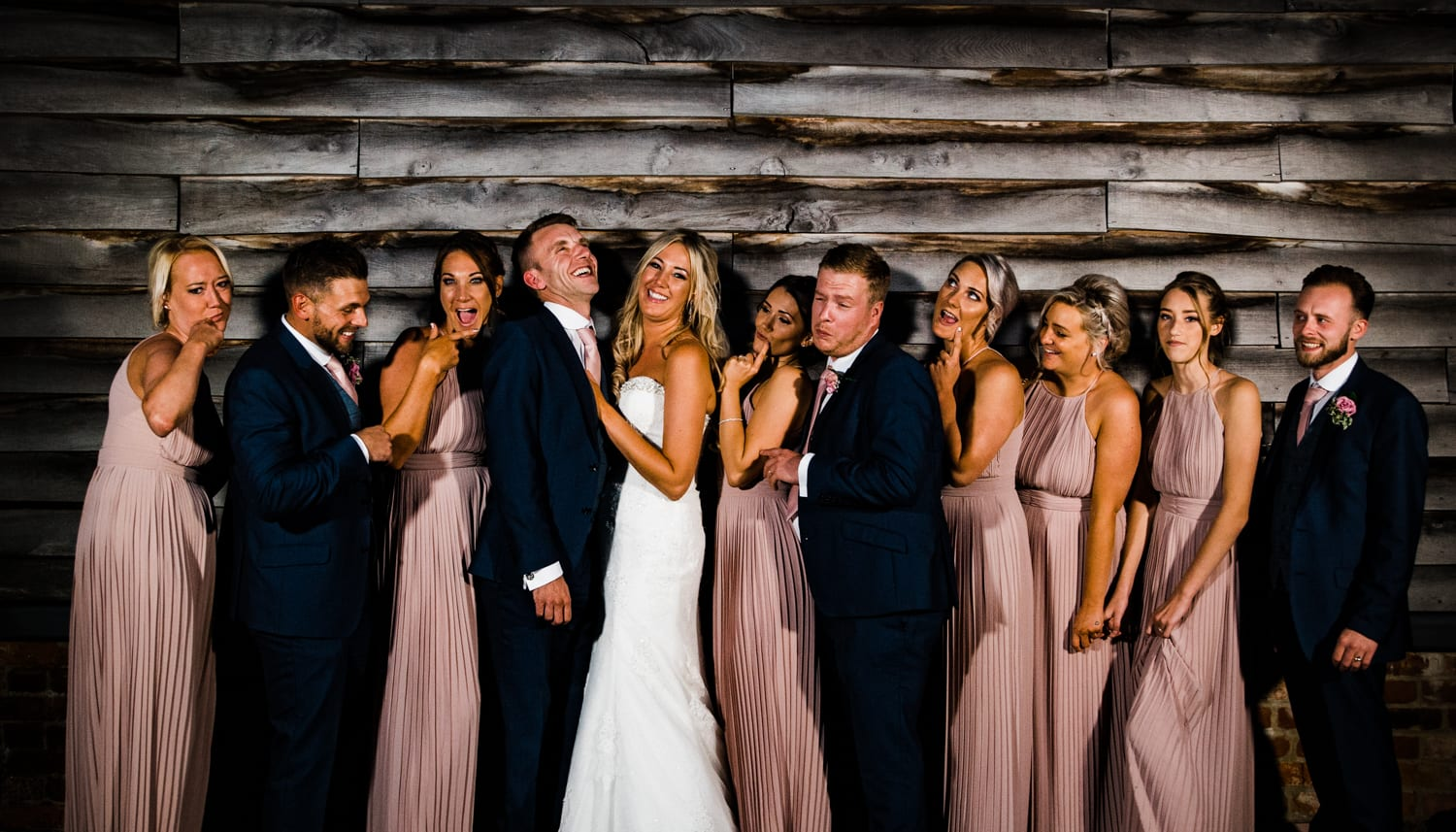 bridesmaids and groomsmen - wedding photography Essex