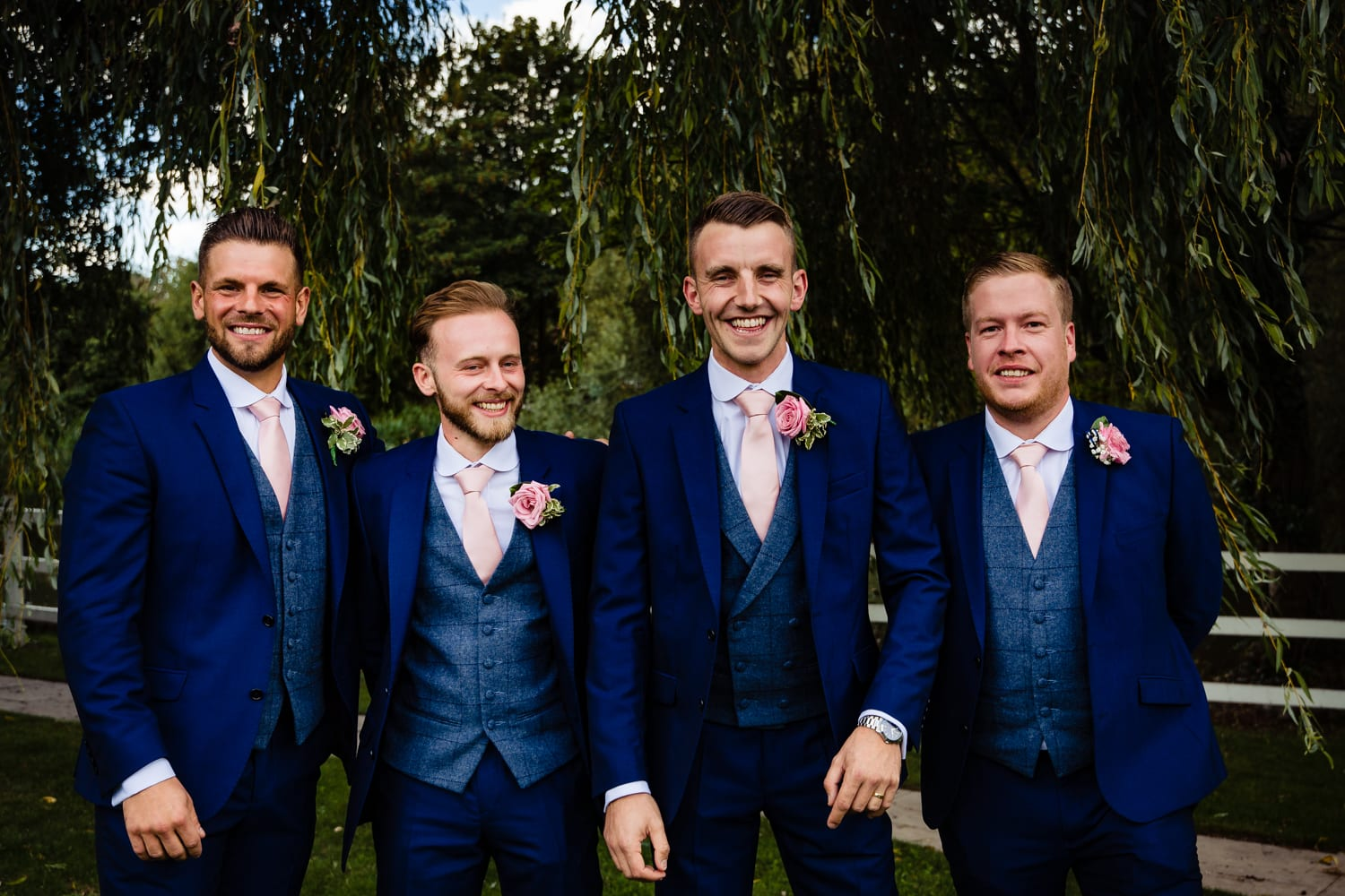 groomsmen in blue - wedding photography Essex