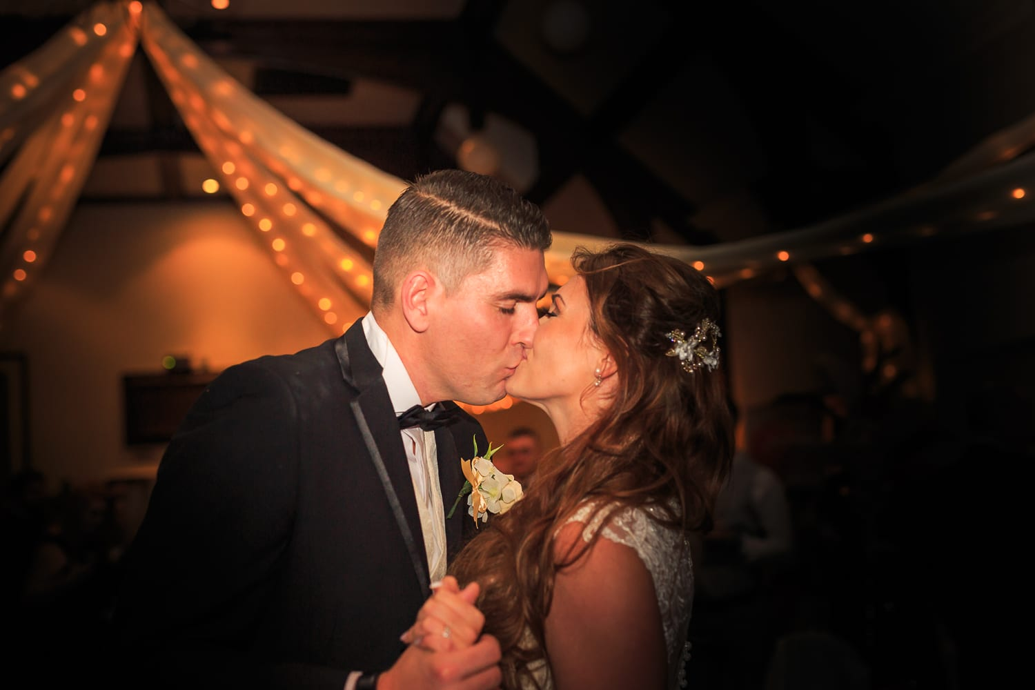 bride and groom at first dance - Braintree Town Hall Wedding