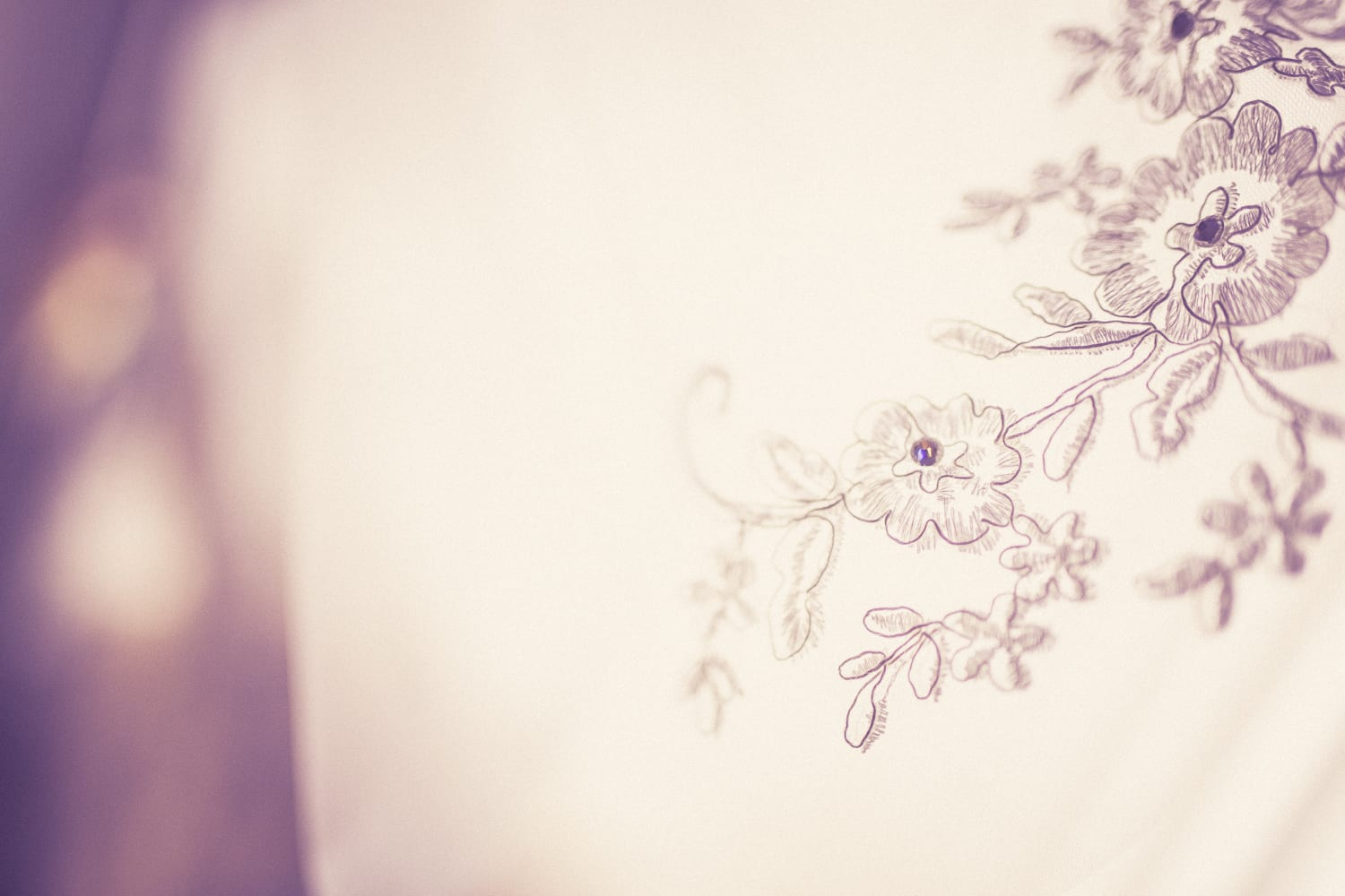 lace from wedding dress of autumn wedding essex